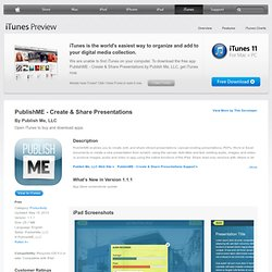 PublishME - Create & Share Presentations for iPad on the iTunes App Store