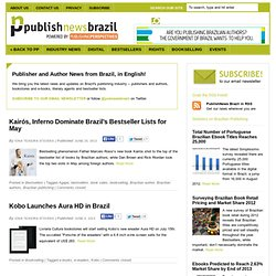 PublishNews Brazil | Brazilian publishing industry news, in English!