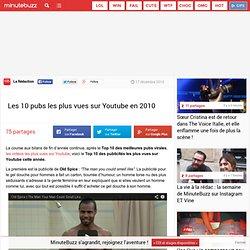 Les 10 pubs les plus vues sur Youtube en 2010