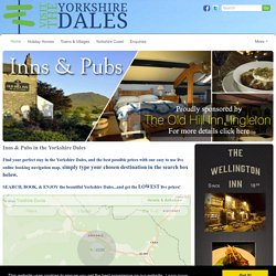 Pubs in the Yorkshire Dales National Park
