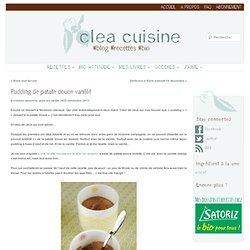 Pudding de patate douce vanillé