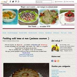 Pudding salé terre et mer (poireau saumon )