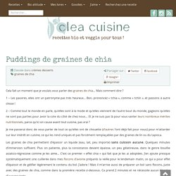 » Puddings de graines de chia