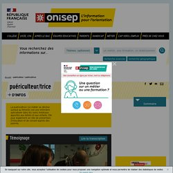 puéricultrice - puéricultrice - Onisep