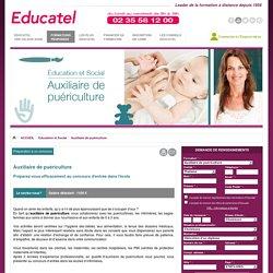 Formation puericultrice, formation auxiliaire de puericulture Educatel