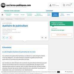 Concours Auxiliaire de puériculture Externe : présentation, épreuves et programmes - Carrières Publiques