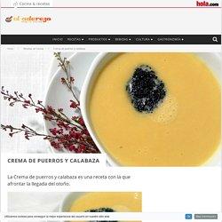 Crema de puerros y calabaza - El Aderezo - Blog de Cocina