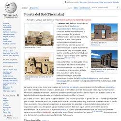 Puerta del Sol (Tiwanaku)