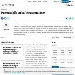 Puesta al día en las letras catalanas