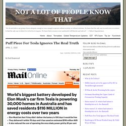 Puff Piece For Tesla Ignores The Real Truth