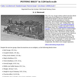 """PUFFING BILLY"""" in 1/20 inch scale"""