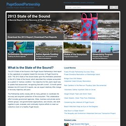2013 State of the Sound - Puget Sound Partnership