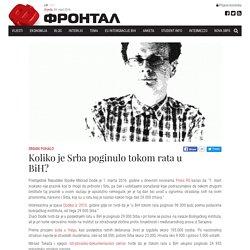 Srđan Puhalo: Koliko je Srba poginulo tokom rata u BiH?