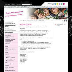 Puhdistuspalvelu - Hyria koulutus