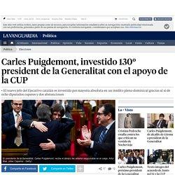 Carles Puigdemont, investido 130º president de la Generalitat con el apoyo de la CUP