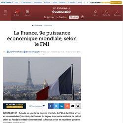La France, 9e puissance économique mondiale, selon le FMI