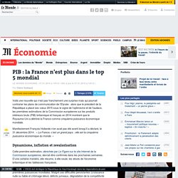 Article sur la cinquième place de la France cédée au Royaume-Uni