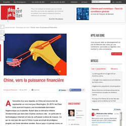 Chine, vers la puissance financière