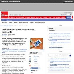 iPad en classe: un réseau assez puissant?
