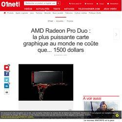 AMDRadeon Pro Duo : laplus puissante carte graphique au monde ne coûte que... 1500 dollars