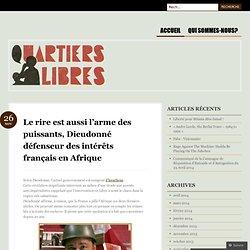 Le rire est aussi l'arme des puissants, Dieudonné défenseur des intérêts français en Afrique