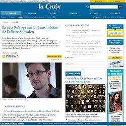 Le prix Pulitzer attribué aux médias de l'affaire Snowden