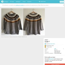 Pull motifs en laine - vinted.fr