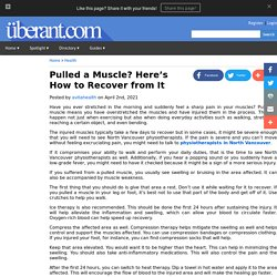 Pulled a Muscle? Here's How to Recover from It