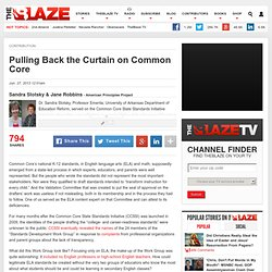 Pulling Back the Curtain on Common Core