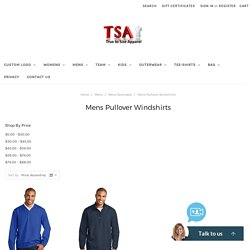 Mens wind shirt, Golf pullover windshirts :True to Size Apparel