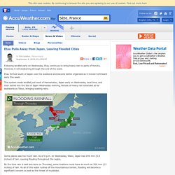 Etau Pulls Away from Japan, Leaving Flooded Cities