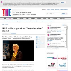 NUS pulls support for 'free education' march