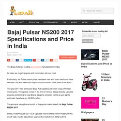 Bajaj Pulsar NS200 2017 Specifications and Price in India - LuckyJi
