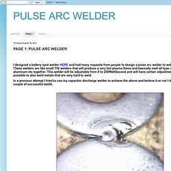 PAGE 1: PULSE ARC WELDER