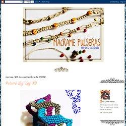 Pulseras de macramé: Pulsera Zig-Zag 3D