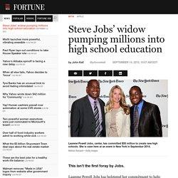 Steve Jobs' Widow Pumping Millions Into High School Education