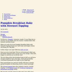 Pumpkin Breakfast Bake with Streusel Topping