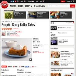 Pumpkin Gooey Butter Cakes Recipe : Paula Deen