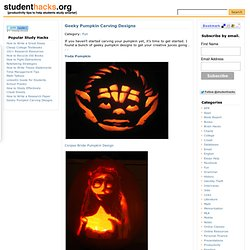 Geeky Pumpkin Carving Designs | studenthacks.org