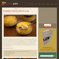 Pumpkin Cheesecake in-a-jar