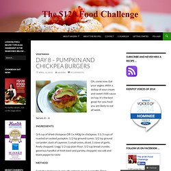 Day 8 – Pumpkin and Chickpea Burgers « The $120 Food Challenge