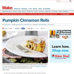 blog : Pumpkin Cinnamon Rolls