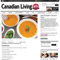 Thai Pumpkin Coconut Soup recipe
