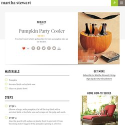 Pumpkin Party Cooler - Martha Stewart Holidays