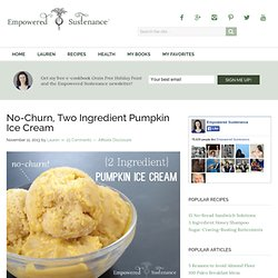Pumpkin Ice Cream: No Churn and Only 2 Ingredients!