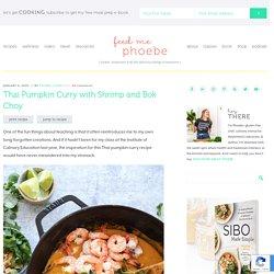 Curry de citrouille aux crevettes et au bok choy