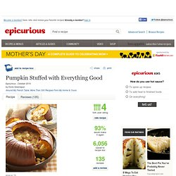 Pumpkin Stuffed with Everything Good Recipe
