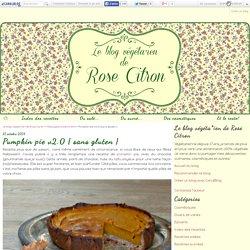 Pumpkin pie v2.0 { sans gluten }