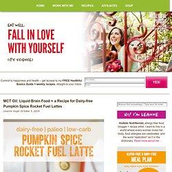 Dairy-free Pumpkin Spice Rocket Fuel Latte