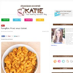 Pumpkin Mac and Cheese - {healthy makeover recipe}